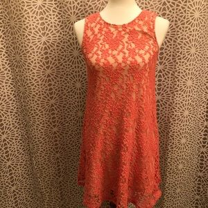 Socialite Floral Lace Sleeveless Dress Size Small